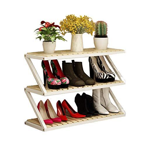 Wenhu Bambus-Holzschuh Rack 3-Tier 9-12 Paare Entryway Shoe Shelf   Pflanzenblume Stand-Rack-Salf   Multifunktions-Speicherständer -