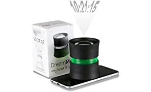 DreamMe Projektionswecker Projektionsuhr für s Smartphone - Praktisches Technik Gadget erweitert iOS Android Handy zum Smartphoneprojektor Einschlafhilfe Schwarz/Grün