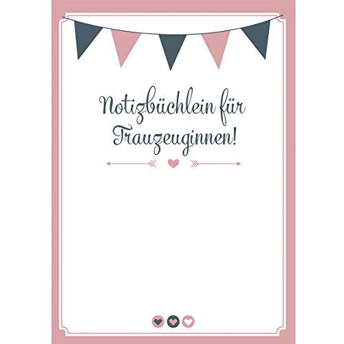 Notizbuch für die Trauzeugin Hochzeit Notizheft Willst du meine Trauzeugin sein