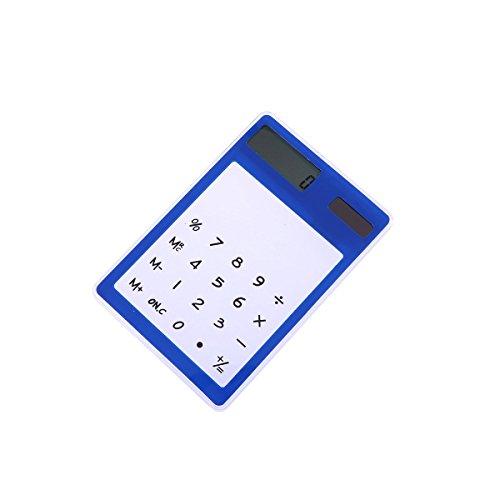 Taschenrechner Solar Office Desktop Rechner Touch-Rechner (Blau)