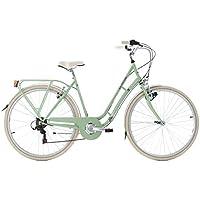 KS Cycling Vélo de Ville Dame 28'' Casino 6 Vitesses Vert TC 51 cm