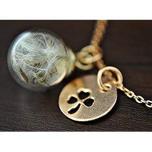 925 Silber-Echte Pusteblume Armband-Roségold