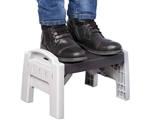 UPP Tritthocker tragbar & faltbar | Klapphocker für rückenschonendes Arbeiten im Garten, Garage oder Haus | Ideal auch als Mobilitätshilfe für Senioren