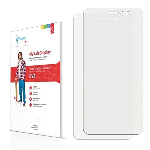 2x Vikuiti MySafeBildschirm CV8 Bildschirmschutz Schutzfolie für Jiayu G5 Basic (Ultraklar, strak haftend, versiegelt Kratzer)