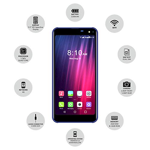 IKALL K8 5.45 Inch 4G Android (2 GB, Blue)
