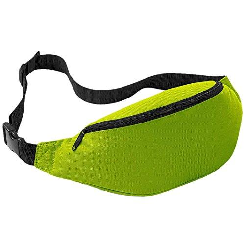 FEITONG Unisex Outdoor Oxford Sports Laufen Hüfttasche Reisen Handlich Wandern Gürteltasche Gürtel Tasche Beutel 2 liters (Blau) Fluorescent Grün