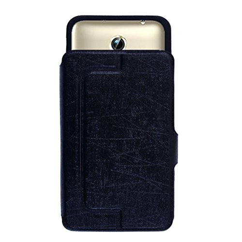 Shopme Premium Push Stand PU Leather Flip cover for Panasonic Eluga Note (Black Color)