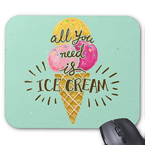 Mauspad 20*24cm Mousepad in Standard-Gr??e, rutschfest-Alles, was Sie brauchen, ist Eis Typografie Vintage Kunst Vintage Eis