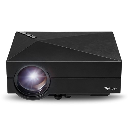 Tiptiper Proyector Full HD LED Vídeo 1000 Lúmenes LP-P02 Proyector Portátil Home Cinema 1080P Alta Resolución Mini Proyector LCD para Cine Teatro Multimedia en Casa Oficina