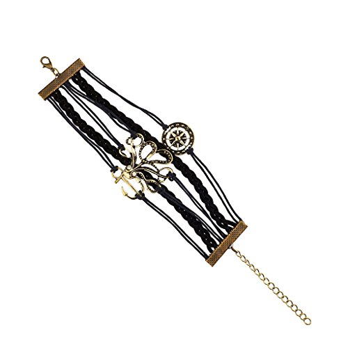 lux-zubehor-anchor-refuse-to-sink-octopus-ocean-sea-kompass-gewebt-armband
