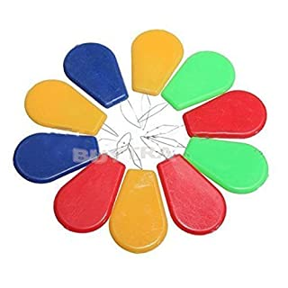 amazing-trading DURABLE 10Pcs Bow Wire Stitch Insert Plastic Craft Tool Sewing Machines Needle Threader