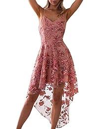 24211f2515a0c2 Kleid Damen Kolylong® Frauen Elegant Trägerlos Spitze Kleid Knielang Vintage  Langarm Spitzenkleid Bleistift Kleid…