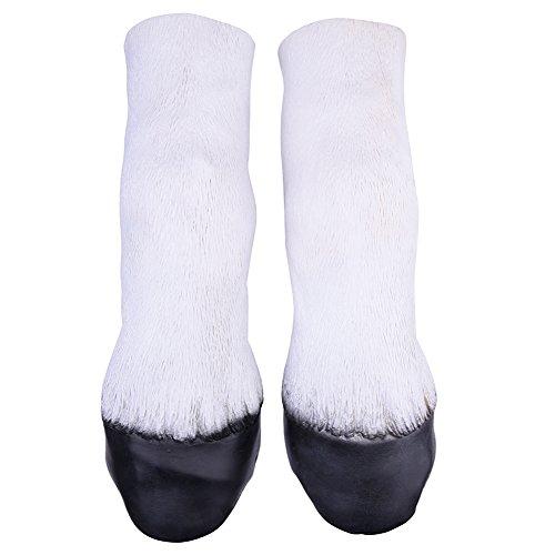Halloween Disfraces Pezuñas caballo para adultos Fiesta Carnavales Cosplay ,color blanco