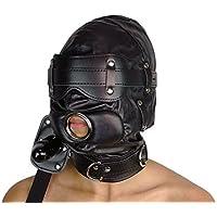 Isolationsmaske mit Dildo-Knebel Sklaven Maske schwarz