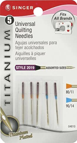 Singer Notions Titanium Universal Quilting Machine Needles, Assorted Sizes, (Titanio Macchina Da Cucire Aghi)
