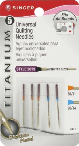 Singer titanio Quilting Notions Universal-Aghi per macchina da cucire, misure assortite, confezione da (Titanio Macchina Da Cucire Aghi)