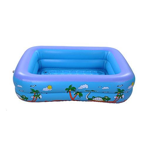 Unbekannt Per Mehrschicht-Aufblasbare Rechteckig Planschbecken für Kinder Tragbare und Sichere Kinder Spielen Schwimmen und Baden Pool (S, 2 Schichten)