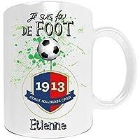 Mug de foot CAEN à personnaliser avec prénom - Cadeau personnalisé foot Ligue Stade Malherbe de CAEN