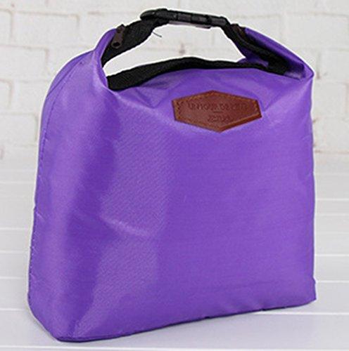 Sacs à lunch d'isolation, Chickwin feuille d'aluminium épaisse de sacs de glace en tissu Oxford, sac de glace fraîche, sac isotherme, sacs de pique-nique, des sacs de repas, sacs de stockage. (Violet)