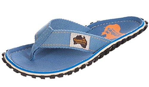 Gumbies Damen Zehentrenner - Rosa/Blau Schuhe in Übergrößen Light Blue