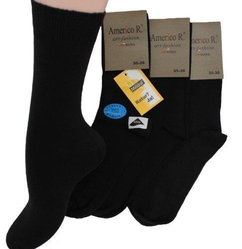 Holz-Socken Modal-Socken mit Komfortbund ohne Gummidruck Socken Strümpfe 6 Paar