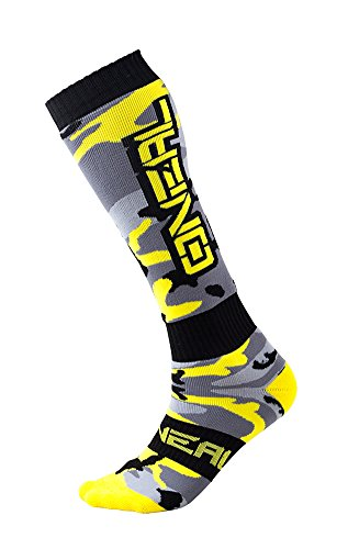 Oneal Damen Hunter Pro MX Socken, Grau/Schwarz/Gelb, One Size