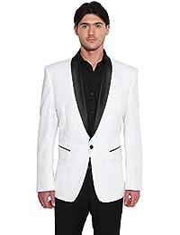 Favoroski Men's Silk Blend Blazers - White
