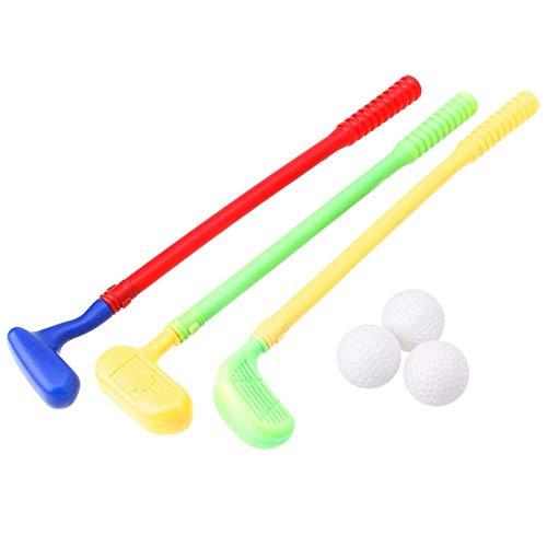 Obeysas - Robuste Mini Golf Sport Spiel 3 Clubs + 3 Ball Golfschläger Spielzeug Outdoor-Spielzeug für Kinder