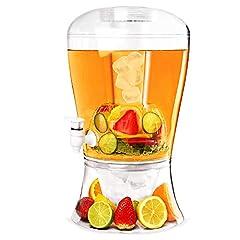 Idea Regalo - Innova-Goods Spillatore Extra Grande da 7,5 Litri Dispenser per Cocktail, bibite, Bevande e Birra Fresca alla Spina con scompartimento per Il Ghiaccio erogatore refrigerato 00574