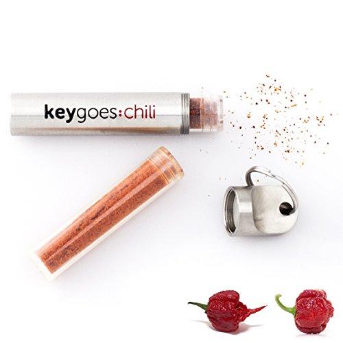 Chilimühle als Schlüsselanhänger