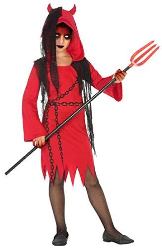 Kostüm Teufel Diva - Fancy Me Mädchen Teufel Diva rot schwarz Dämon Gruselig Halloween Karneval Kostüm Outfit 3-12 Jahre