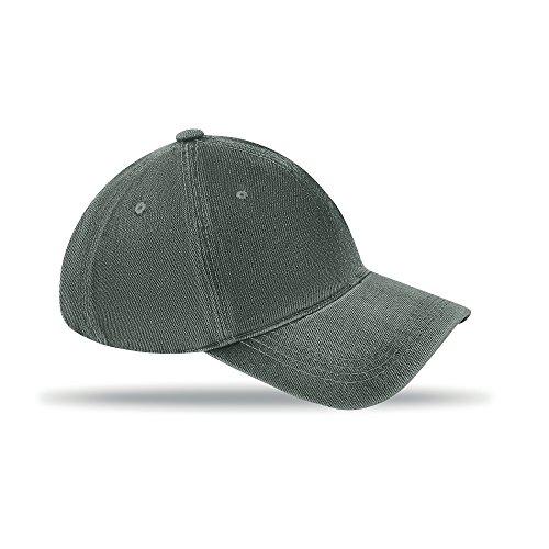 Baseball Kappe aus vorgewaschenem Baumwoll-Twill , grau Twill-kappe