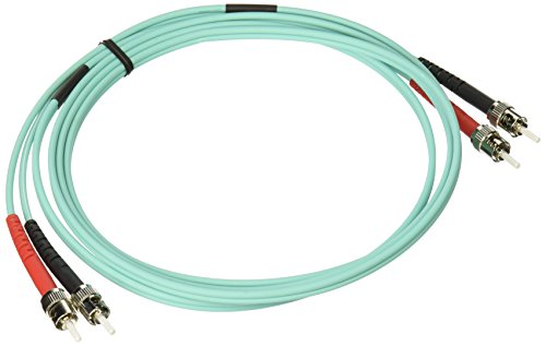 Aqua-patch-kabel (C2G/Cables to Go 36501 10 GB ST/ST LSZH Duplex 50/125 multiMode Fiber Patch Kabel (2 Meter, aqua))