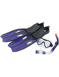 Dunlop Kit tuba professionnel avec lunettes de plongée ou Masque de plongée, palmes ou Palmes et tuba pour enfants–Quatre Tailles et 3couleurs au choix