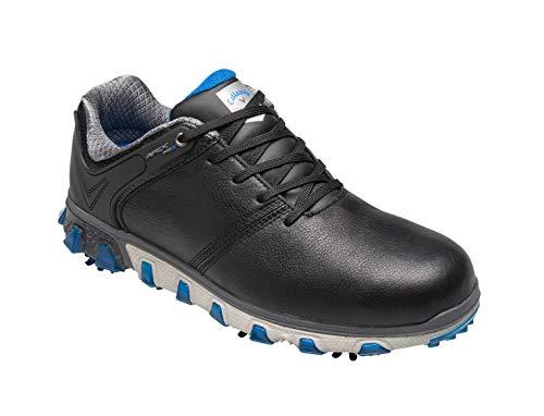 Callaway Herren Apex Pro S Waterproof Golfschuhe, Schwarz (Black/Blue Black/Blue), 47 EU