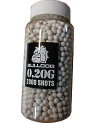 Bulldog High Pro Grade - Munición para pistolas de balines de peso medio (bote cargador rápido de 2000 perdigones de 6 mm y 0,20 g)