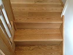 Straight Step Tread Pack - Oak stair Cladding - klad