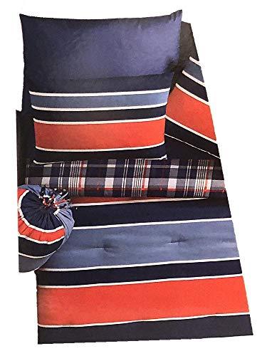VCNY Home Jeff Plaid Bett in Tasche, 11-teilig, Rot/Blau (Bett In Tasche-rot)