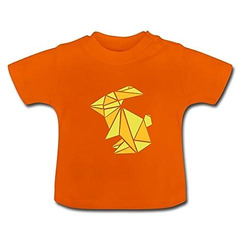 Bunny Origami Rabbit Baby T-Shirt by Spreadshirt®, 18-24 months, golden orange