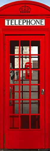GB eye Ltd Türposter, Motiv Telefonzelle in London, 53x158cm