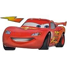 2 tlg. Set: 3-D Wandtattoo / Fensterbild / Sticker - Cars Lightning McQueen - wasserfest - selbstklebend Pop-Up Aufkleber Wandsticker Auto