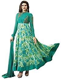 Missethnik Latest Indian Bollywood Designer Anarkali Western Prachi Green 861