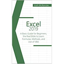 Excel 2019: A Basic Guide for Beginners, the Real Bible to Learn Formulas, Methods and Use of VBA (English Edition)