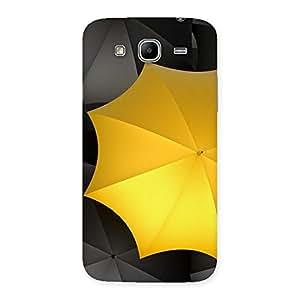 Black Yellow Umbrella Back Case Cover for Galaxy Mega 5.8