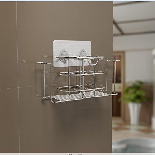 Lanlan Zahnpasta Zahnbürstenhalter Wand montiert Dusche Raum Organizer Storage Rack Edelstahl keine Spuren (Mouse Minnie Make Up Cute)
