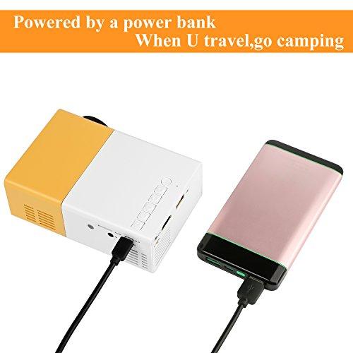 PowerLead Mini Beamer Mini geführtes 1080P volles HD Minikino-Projektor - 3