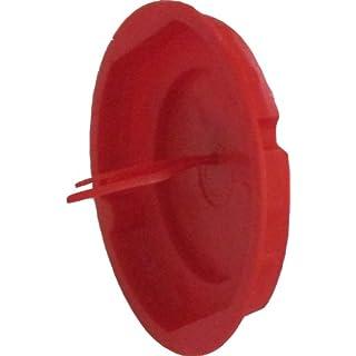 100 Stück Signaldeckel für Schalterdosen Durchmesser 60 mm Kunststoff rot