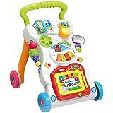 عربة الاطفال للجلوس والوقوف من هابي تويز، مشاية تعليم السير متعددة الوظائف للاماكن الخارجية