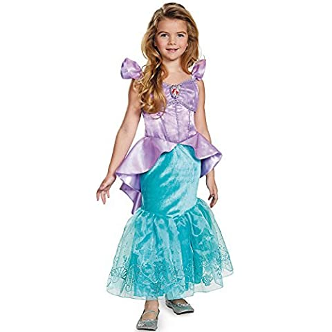 Disguise Ariel Prestige Disney Princess The Little Mermaid Costume, X-Small/3T-4T,