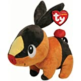Ty Pokemon Tepig - Peluche, 15 cm